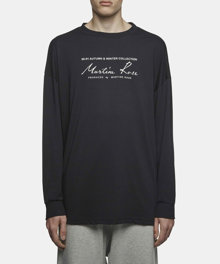 Martine Rose - Classic Logo Long Sleeve T-Shirt