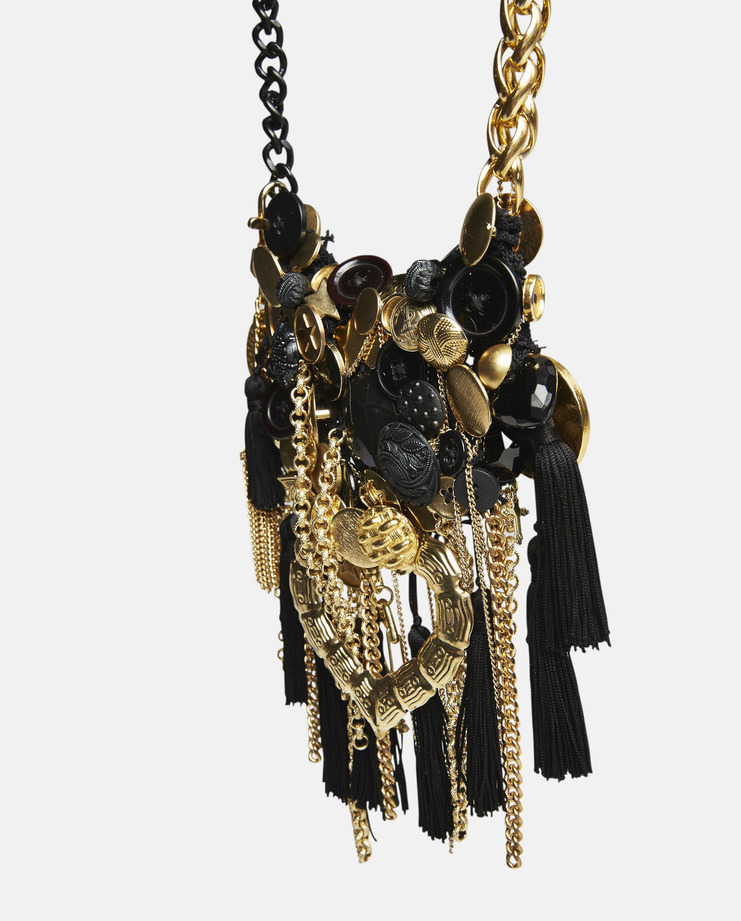 Judy Blame Black and Gold Archive Necklace AW16