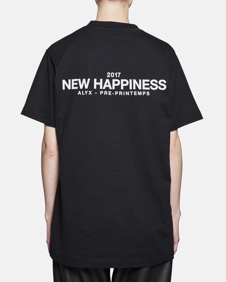 Alyx New Hapiness ss17 2017 spring summer 17 Black Short Sleeve T-Shirt