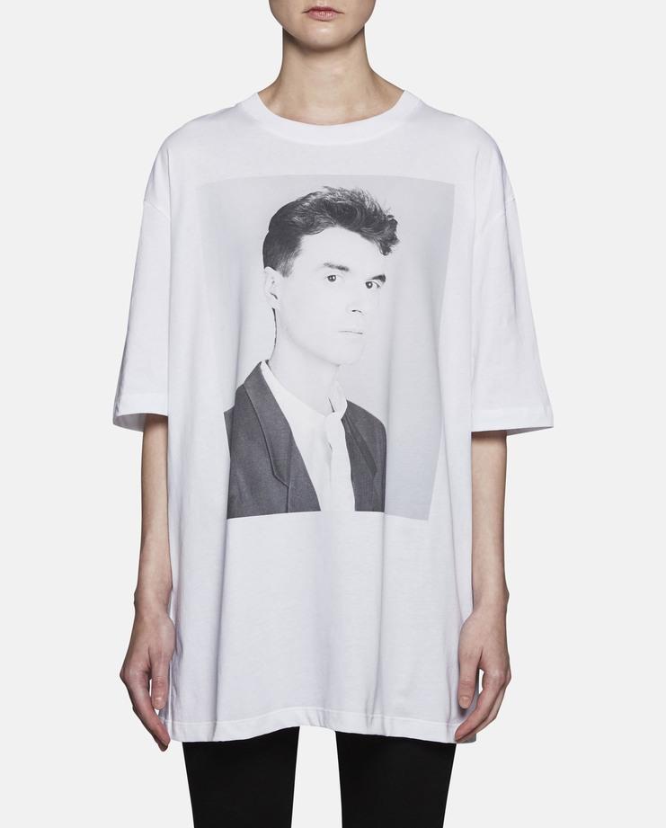 Raf Simons White David Byrne Print T-Shirt