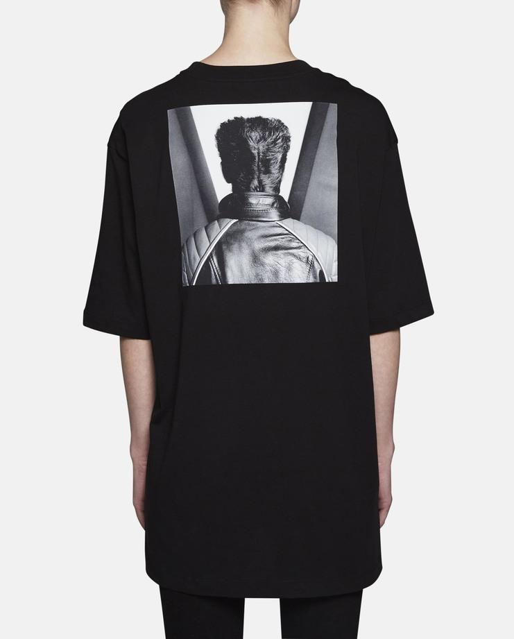 Black Robert Mapplethorpe Self Portrait Print T-Shirt