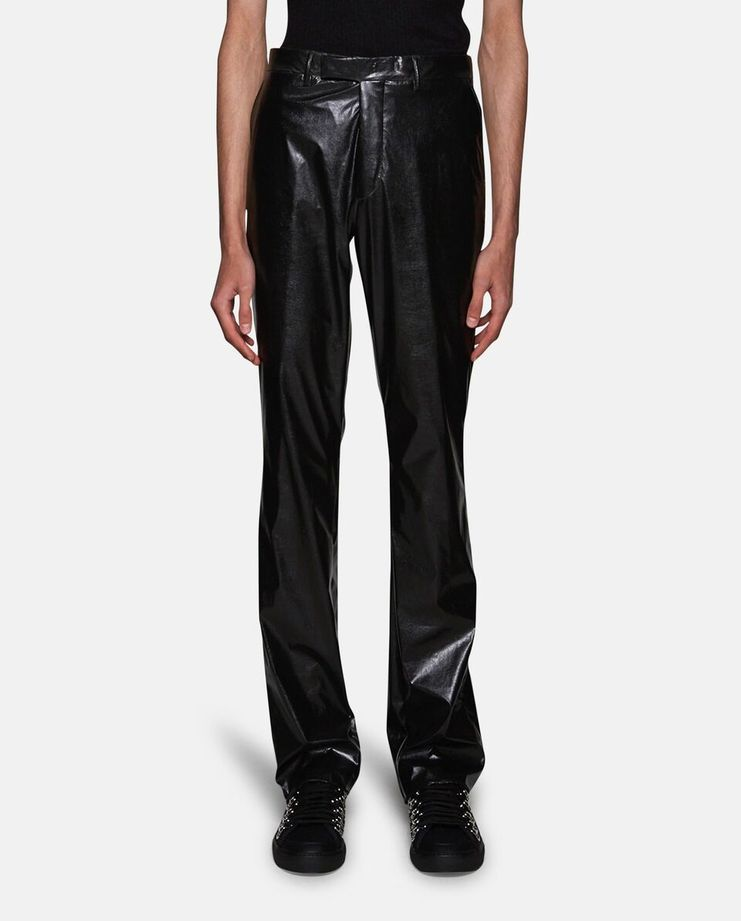 Slightly Flary Fake Leather Pants by Raf Simons SS17