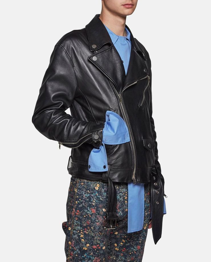 Oversized Leather Biker by Delada SS17