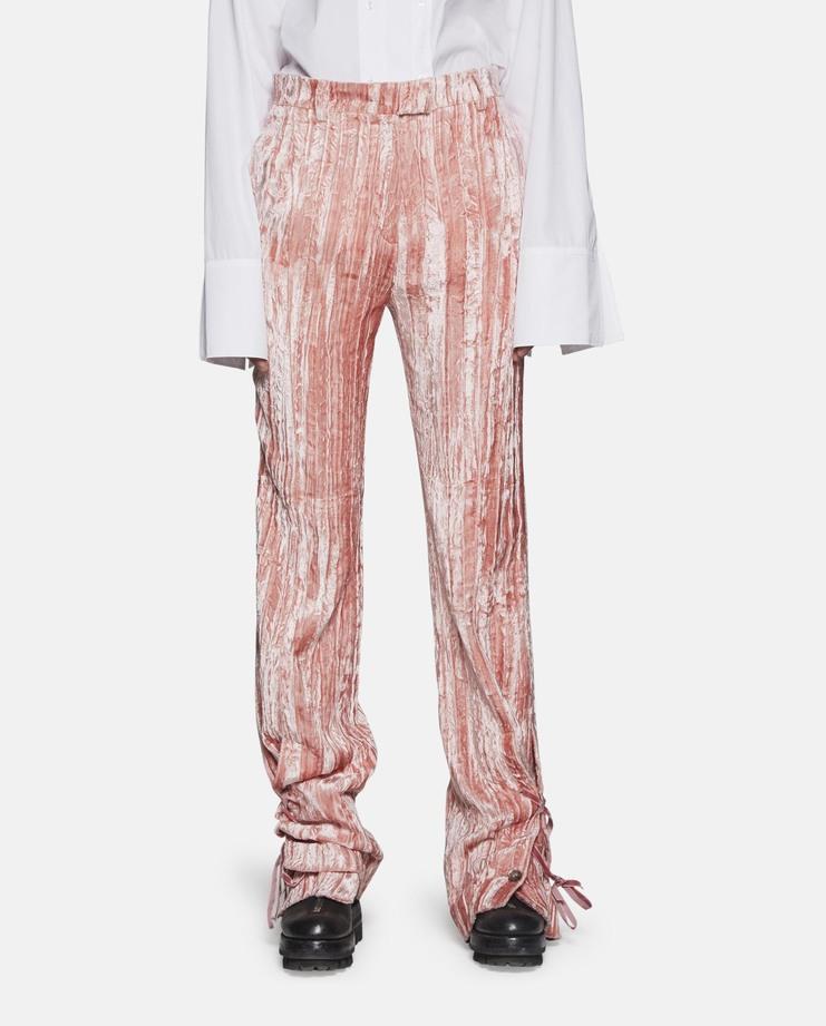 DELADA Velvet Flare Trousers pink SS17