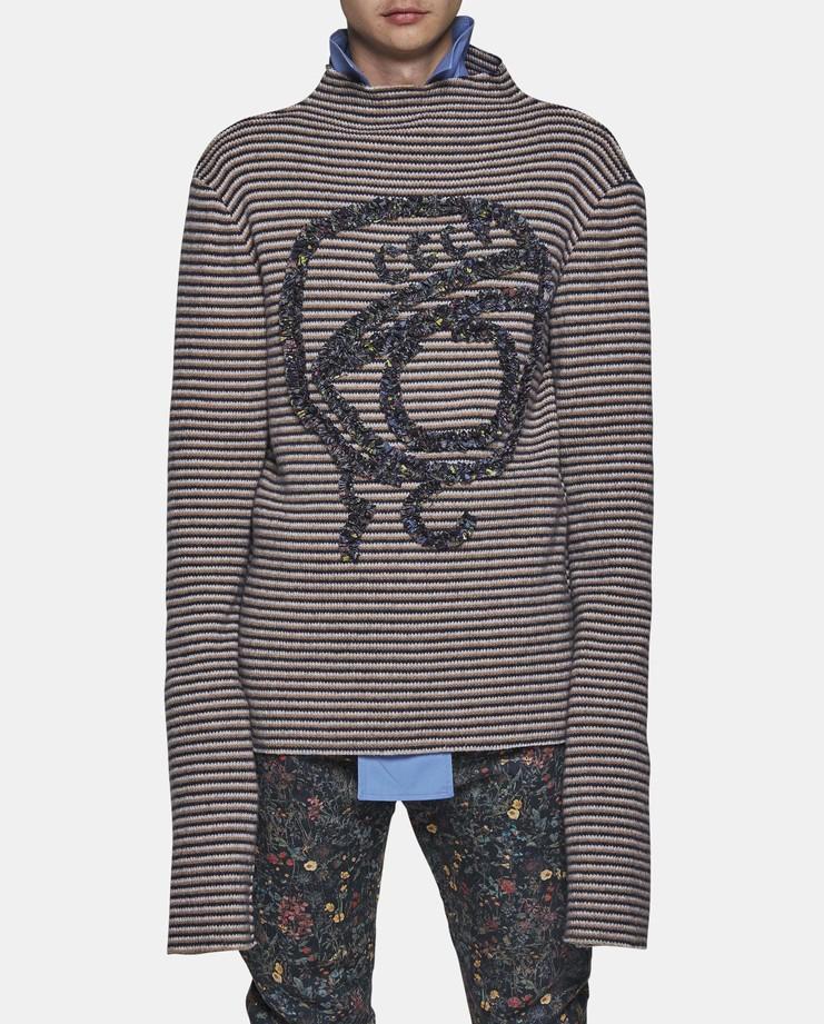 DELADA - Long Sleeve Stripe Jumper cccp ussr wool sweater striped ss17