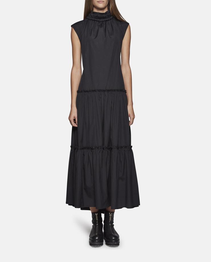 DELADA Sleeveless High Neck Long Dress with Open Back Black SS17