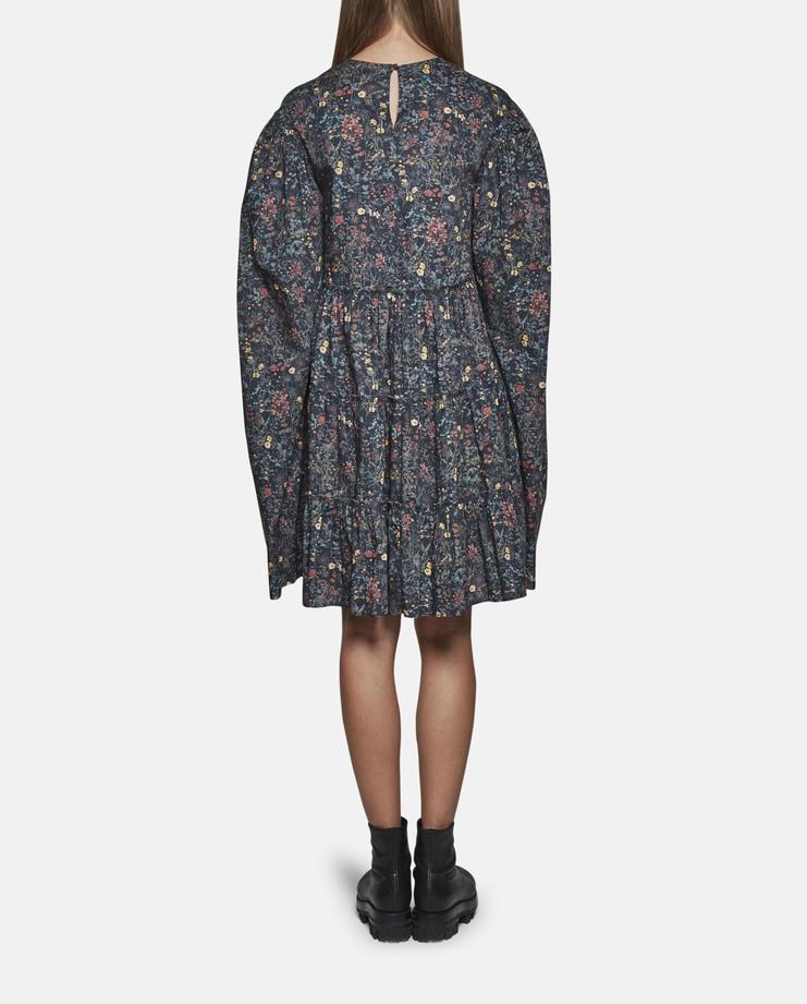 DELADA Oversized Long Sleeve Ruffle Dress dark strawberry SS17