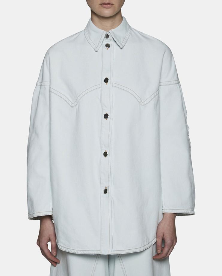 MM6 Long Denim Shirt SS17