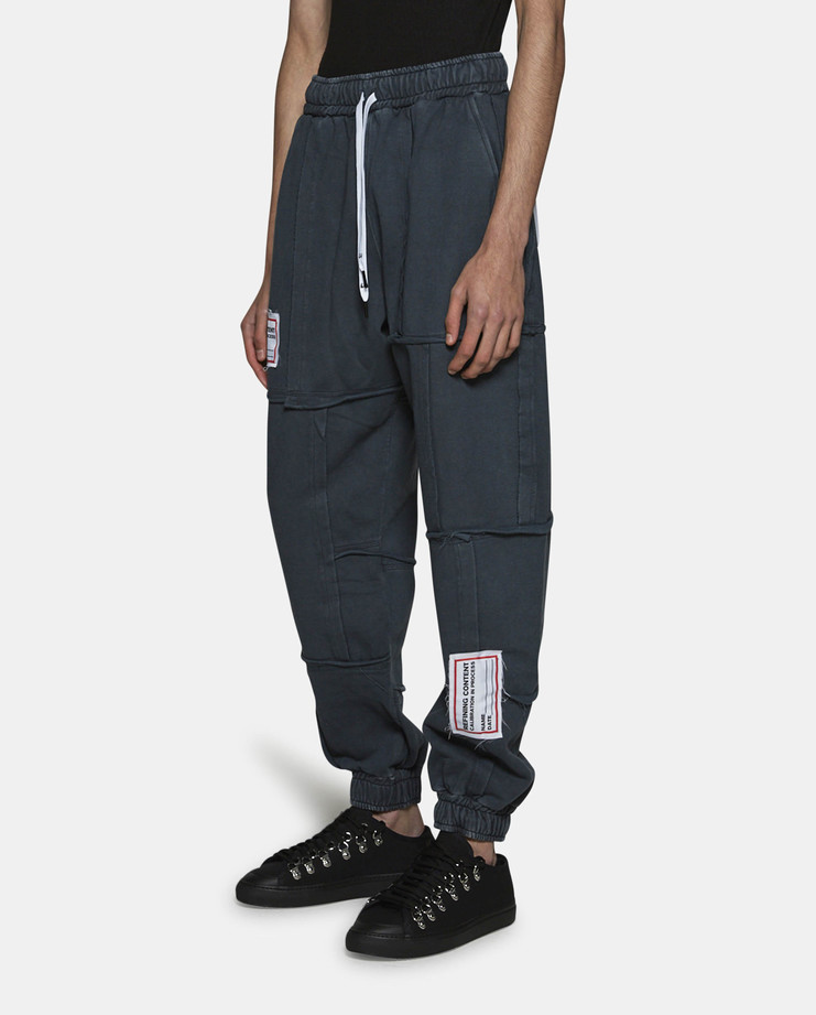 Liam Hodges Refined Patchwork Joggers Grey SS17
