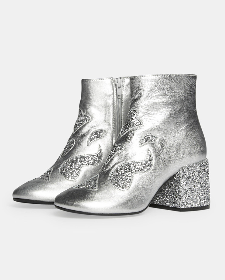 MM6 Glitter Ankle Boots