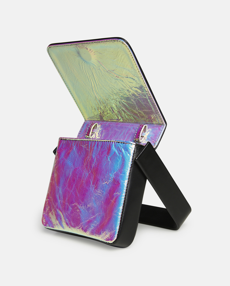 Persephoni Leather Waist Bag with Iridescent Lining