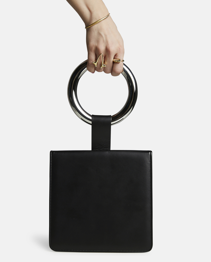 Persephoni Square Leather Bag with Ring