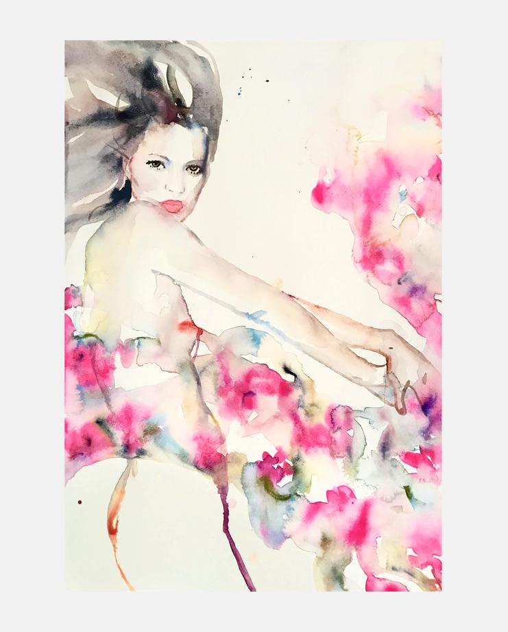 Yves Saint Laurent S/S 93, fahren feingold, showstudio, fashion illustration, kate moss