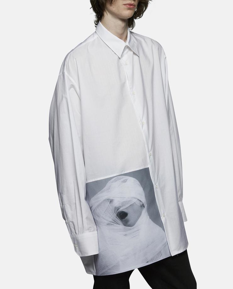 Raf Simons Oversized White Gauze Shirt SS17