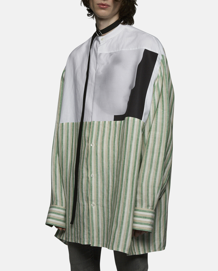 Raf Simons - Oversized Linen Shirt with Neck Strap