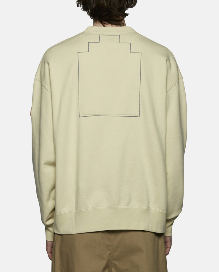 Cav Empt Embroidery Crew Neck Sweater yellow ss17
