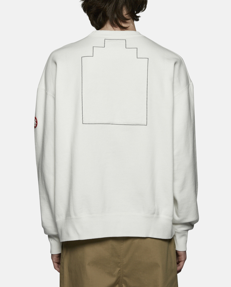 Cav Empt Embroidery Crew Neck Sweater white SS17