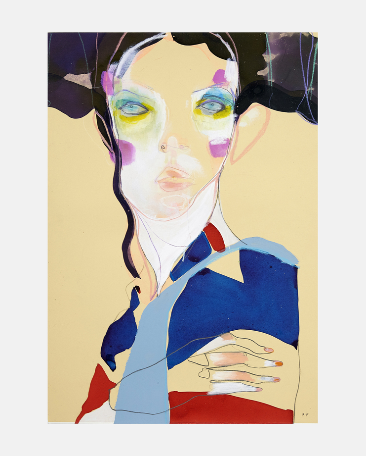 John Galliano S/S 93, fashion illustration, showstudio, kate moss, moving kate