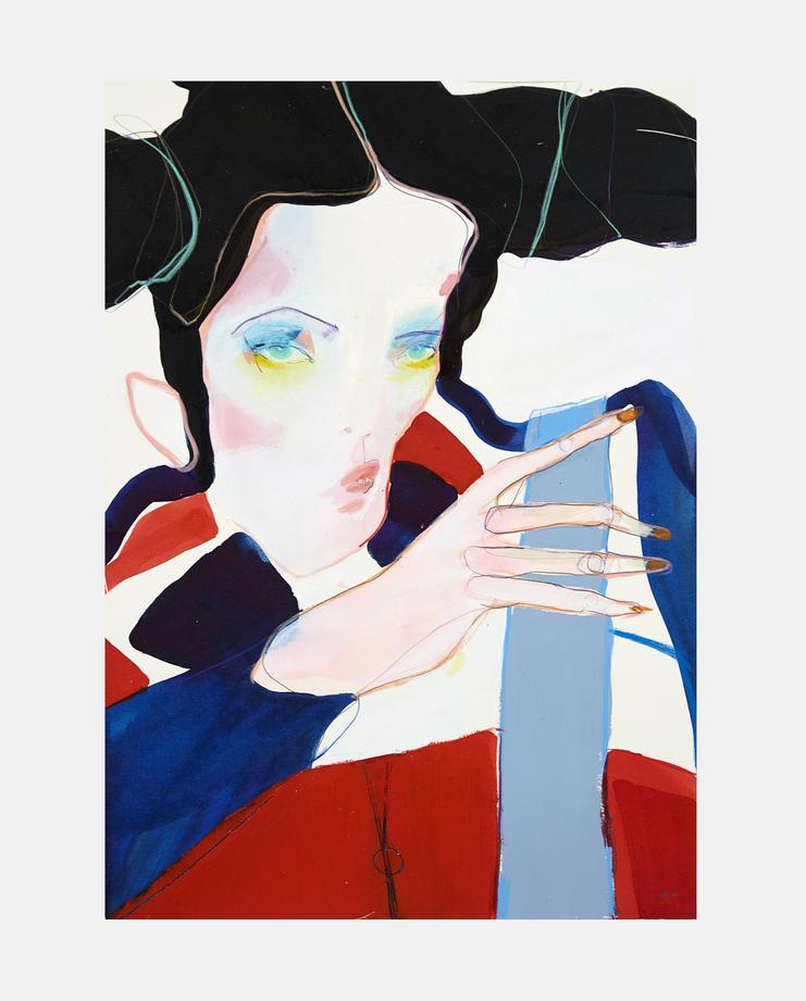 John Galliano S/S 93, rob phillips, showstudio, fashion illustration, kate moss, moving kate