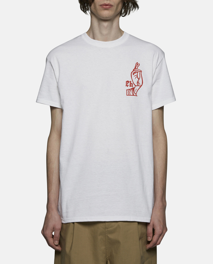 Expert Horror Saint Hand T-Shirt White Red SS17