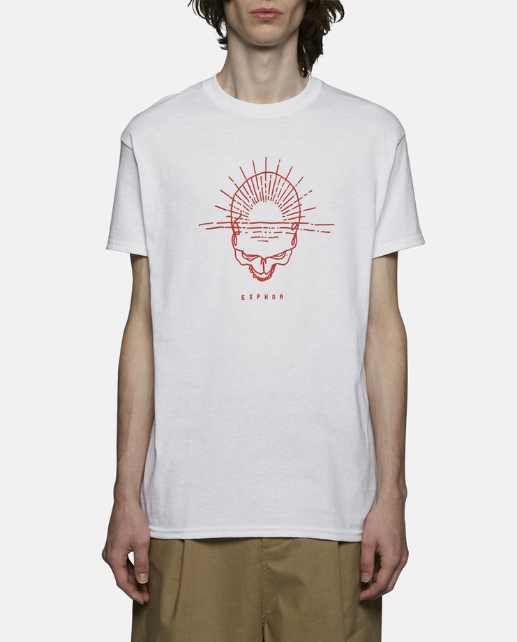 Expert Horror Skull Rise T-Shirt white red SS17