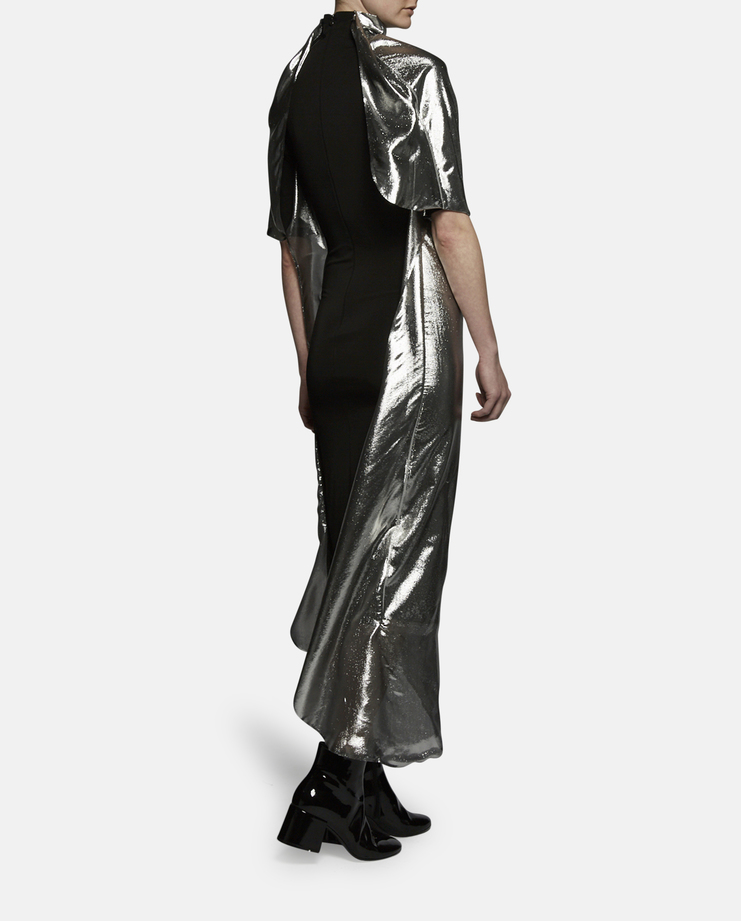 Paula Knorr Short Sleeve Metallic Relief Dress SS17