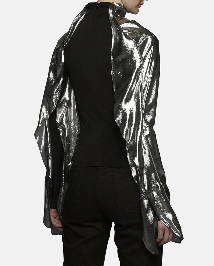 Paula Knorr Long Sleeve Metallic Relief Top SS17