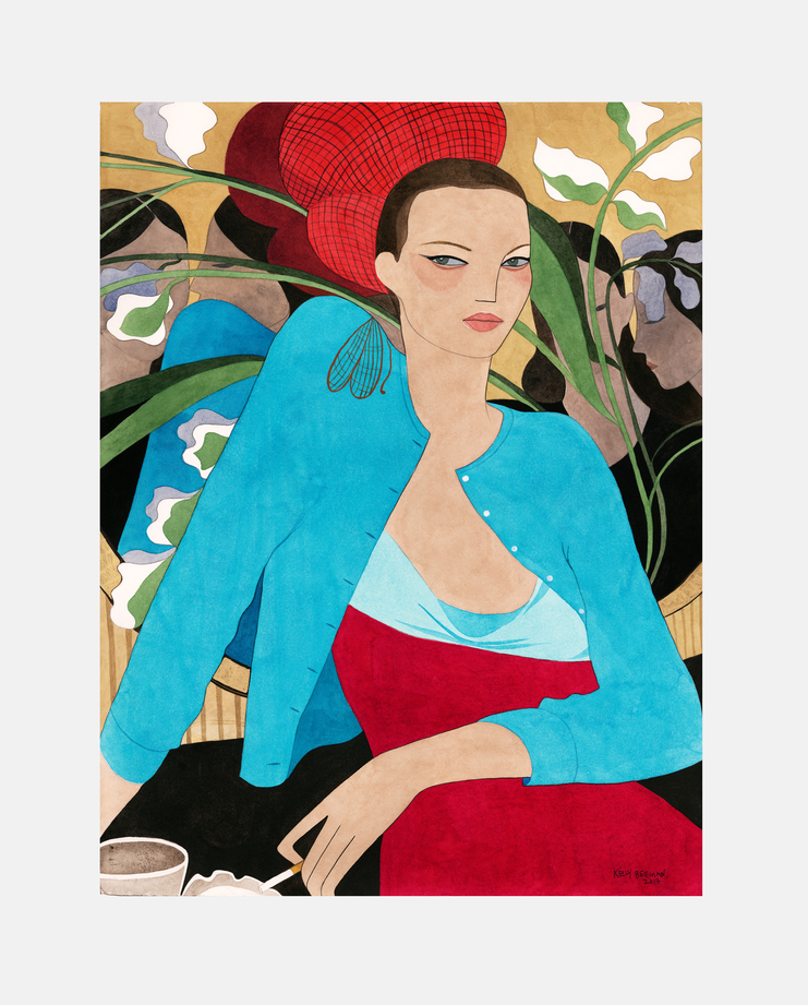 Matthew Williamson S/S 98, fashion illustration, kelly beeman, kate moss, moving kate