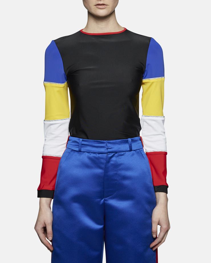 Sadie Williams Multi-Panelled Long Sleeve Top SS17