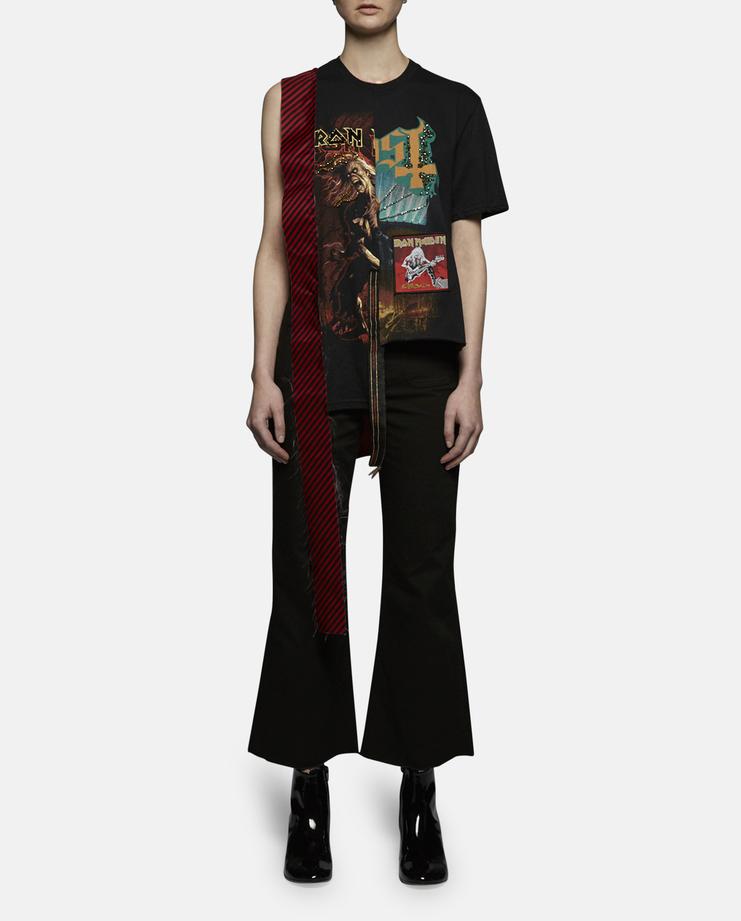 Dilara Findikoglu Iron Maiden Stripe Panel T-Shirt