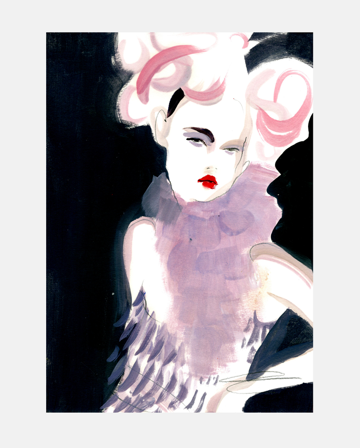 Dior S/S 98, moving kate, kate moss, showstudio, fashion illustration