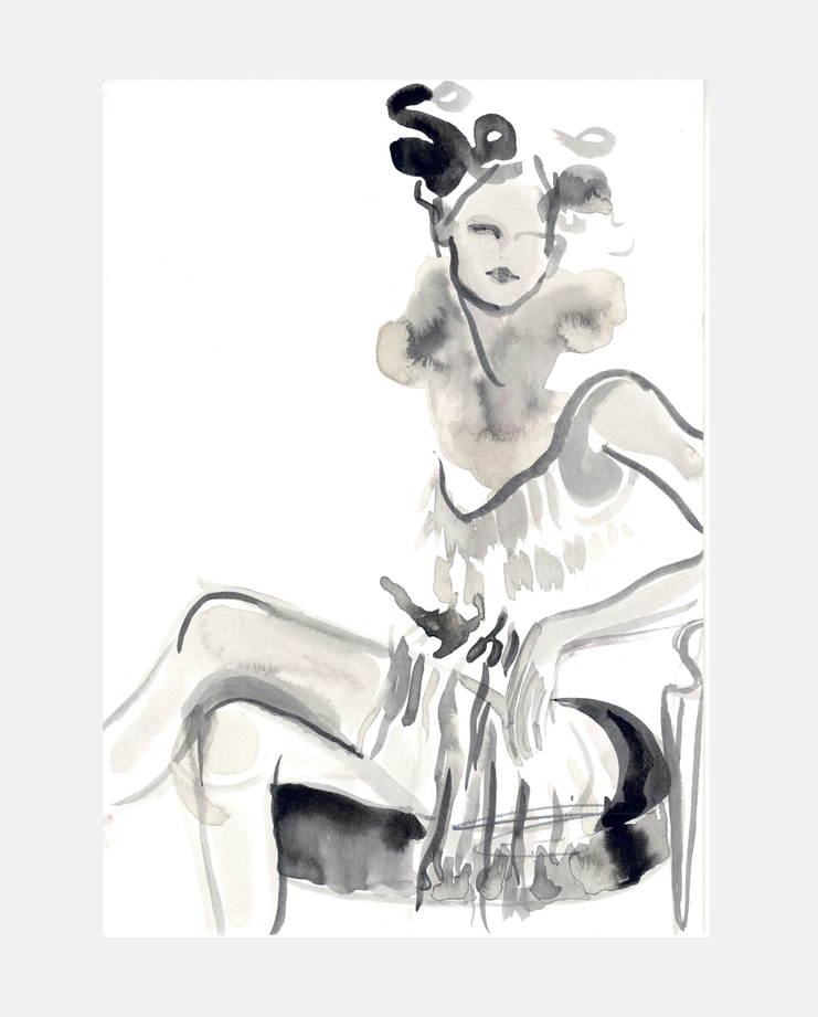 Dior S/S 98, Poppy Waddilove, kate moss, moving kate, showstudio, fashion illustration