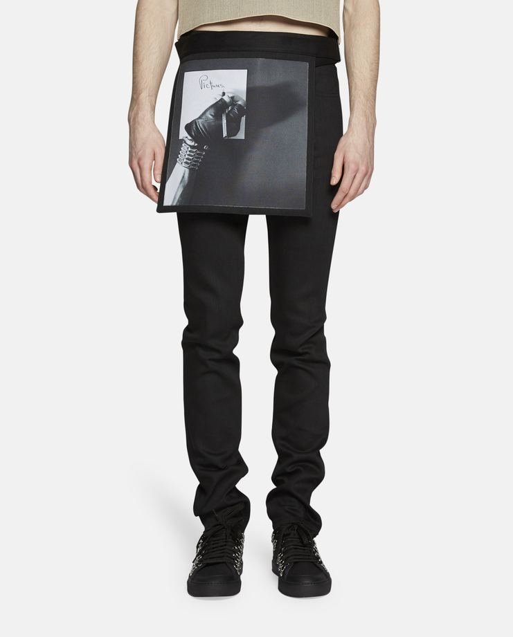 Raf Simons - 40% OFF - Slim Fit Jeans with Removable Panel