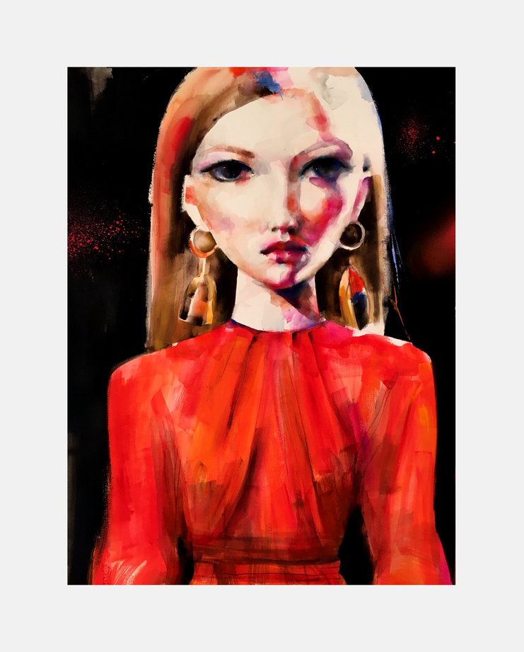 Ulyana Sergeenko S/S 17, suzy platt, showstudio, fashion illustration