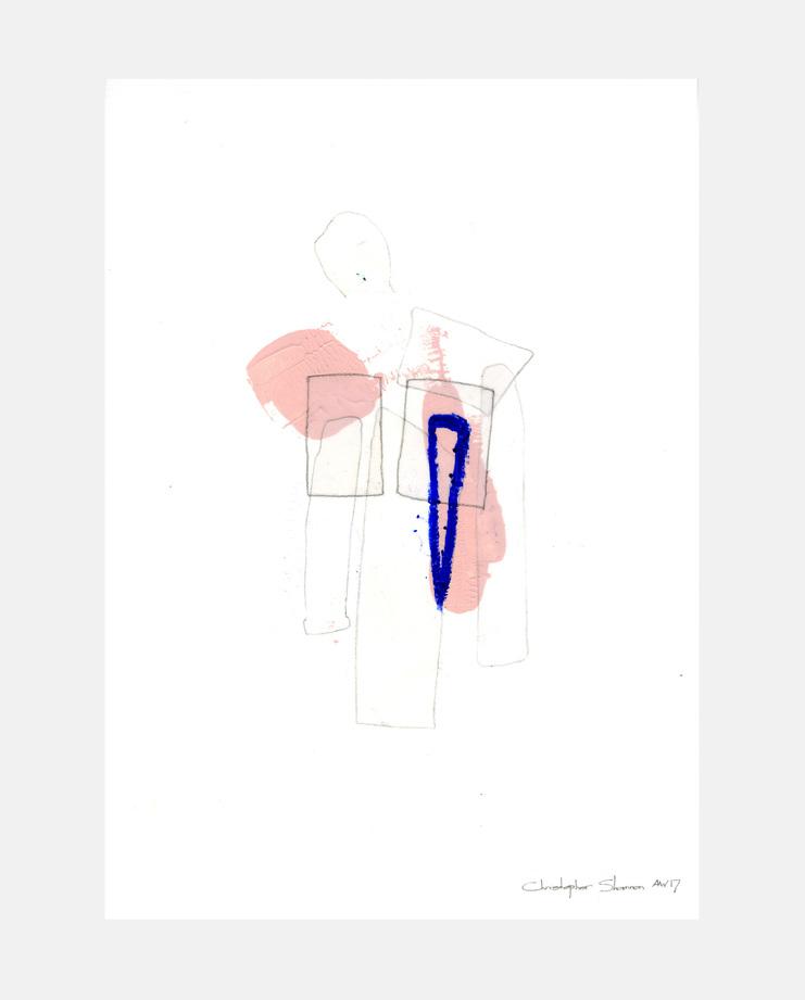 Lara Mackenzie Lee, Christopher Shannon A/W 17 , SHOWstudio, fashion illustration, London Menswear