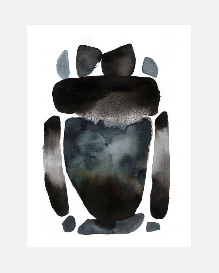 Emma Larsson, Rick Owens A/W 17 , SHOWstudio, fashion illustration, Paris Menswear
