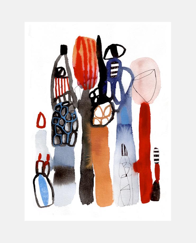 Emma Larsson, Givenchy A/W 17 , SHOWstudio, fashion illustration, Paris Menswear