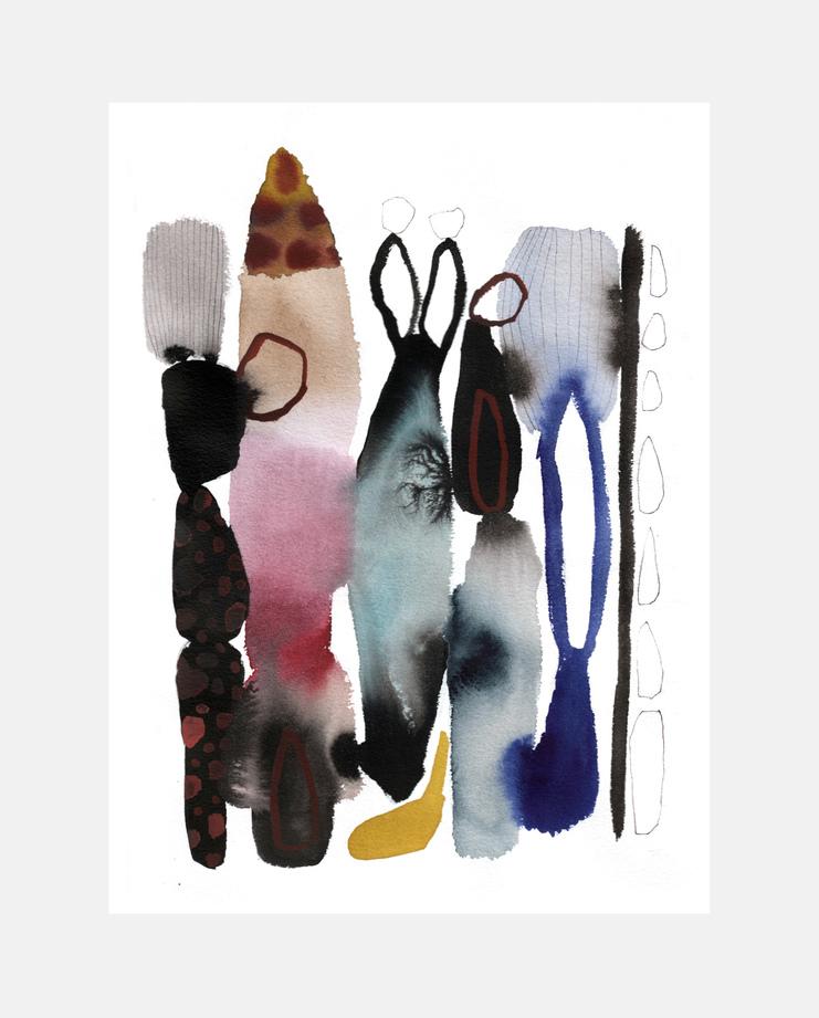 Emma Larsson, Sacai A/W 17 , SHOWstudio, fashion illustration, Paris Menswear