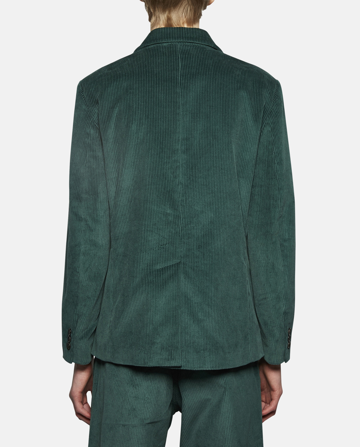 Gosha Rubchinskiy Double Breasted Corduroy Jacket green SS17