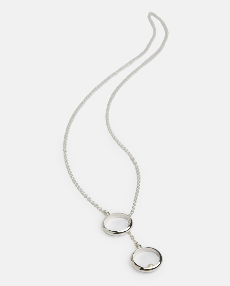 Husam El Odeh Pearl Counterweight Ring Necklace