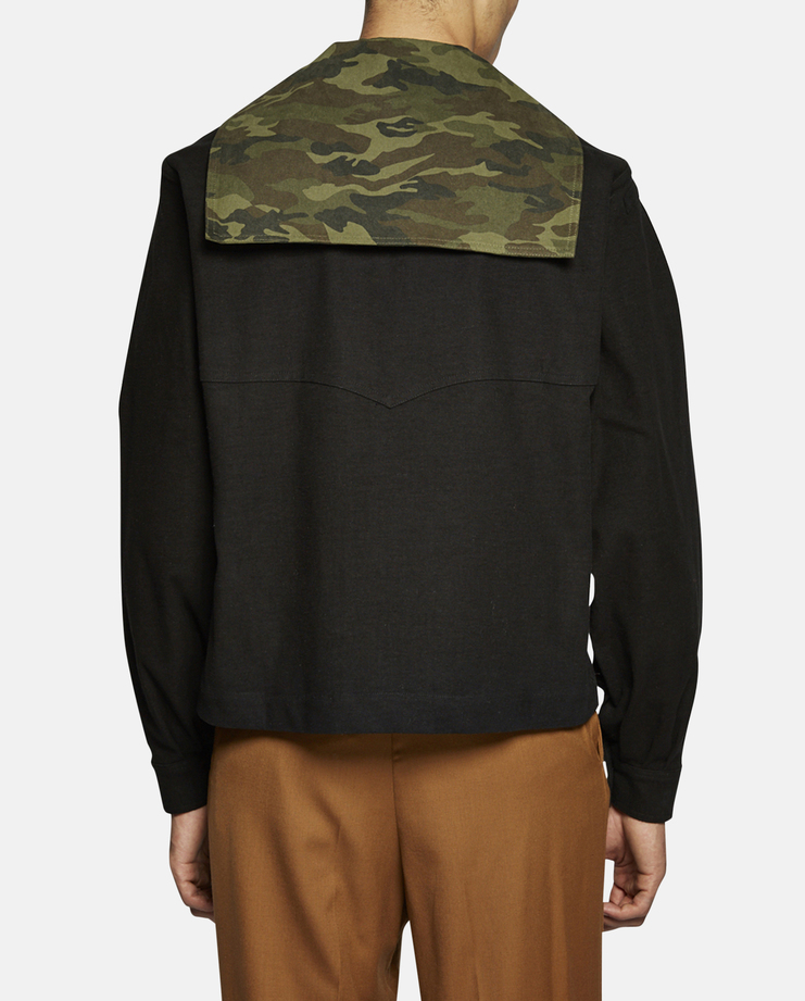 Camouflage Sailor Pullover With Pins SS17