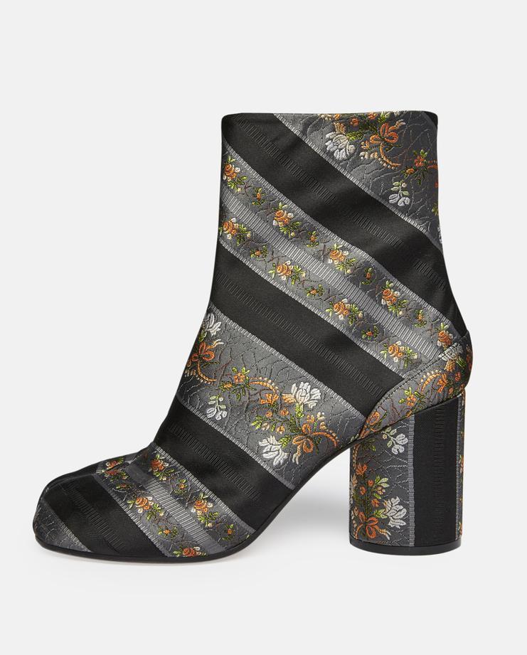 Heeled Jacquard Tabi Boots
