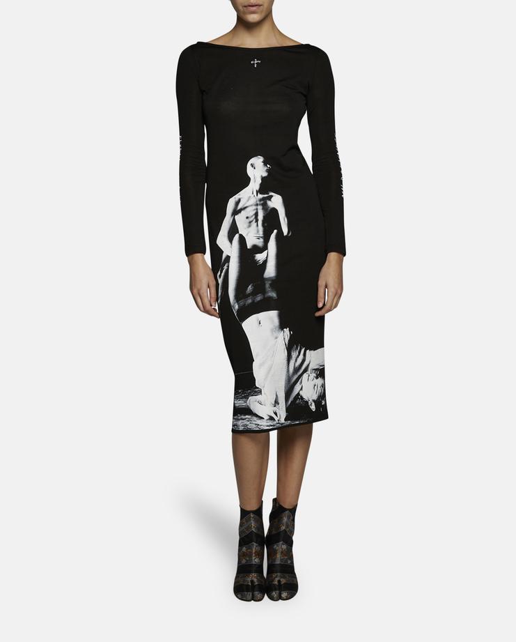 Dust Magazine x Jurgi Persoons Long Sleeve Printed Dress