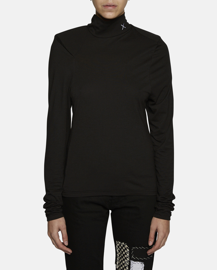 Dust x Jurgi Padded Shoulders Turtle Neck Top
