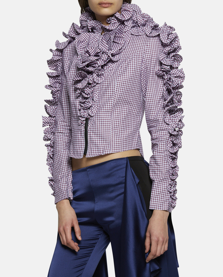 Y/Project Ruffle Check Shirt