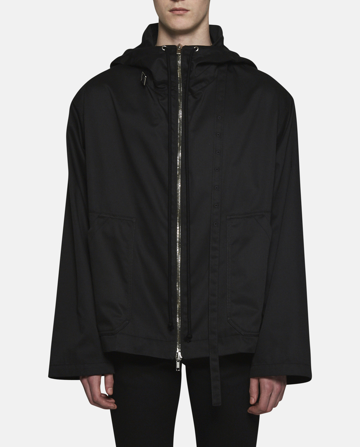 Raf Simons Hooded Jacket With Printed Lining