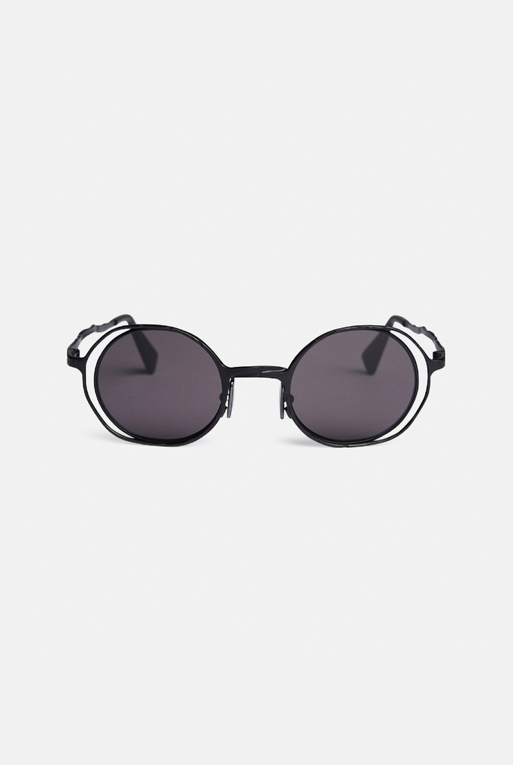 Kuboraum 'H11' Sunglasses German Berlin Menswear Womenswear Sunglasses Glasses Accessories Contemporary Fashion Designer New Collection New Arrivals Autumn Winter 17 AW17 Silver Acetate black