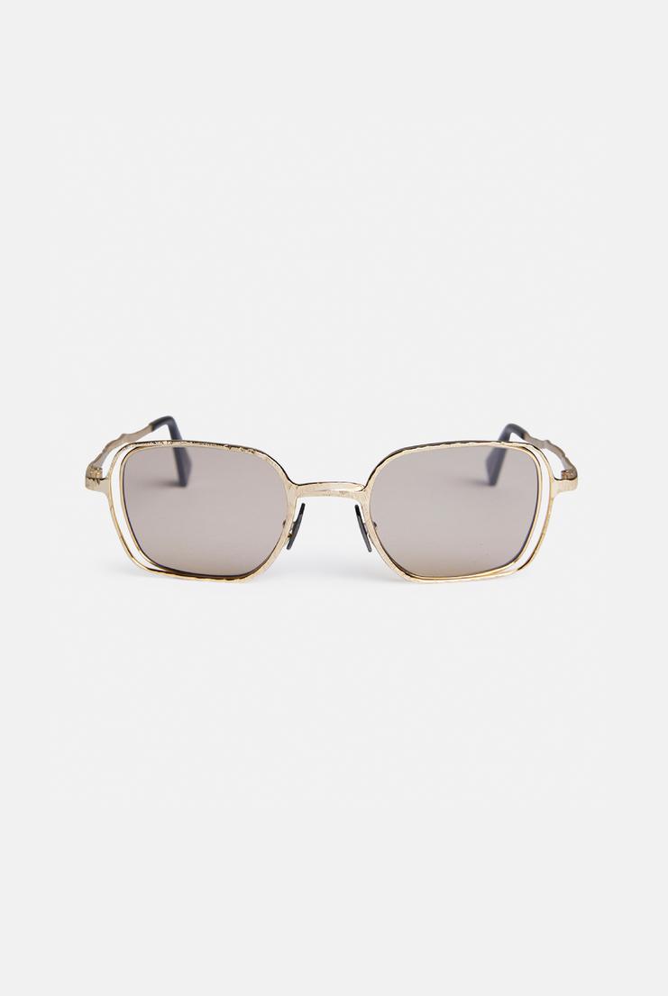 Kuboraum 'H12' Sunglasses German Berlin Menswear Womenswear Sunglasses Glasses Accessories Contemporary Fashion Designer New Collection New Arrivals Autumn Winter 17 AW17 Silver Acetate gold rectangle