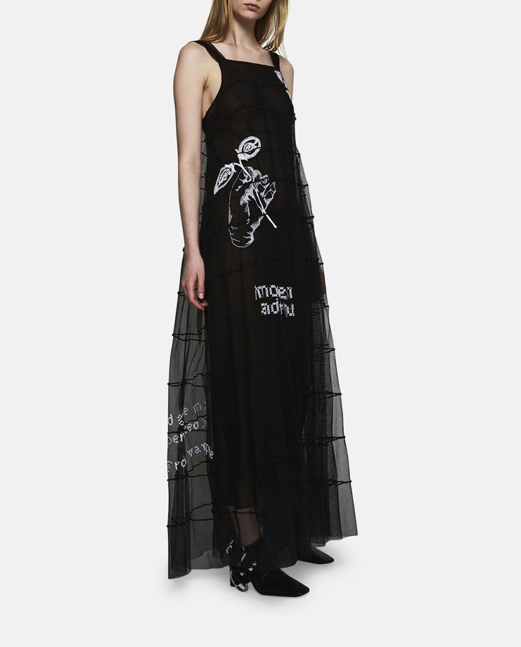 Maison Margiela Embroidered Sheer Dress