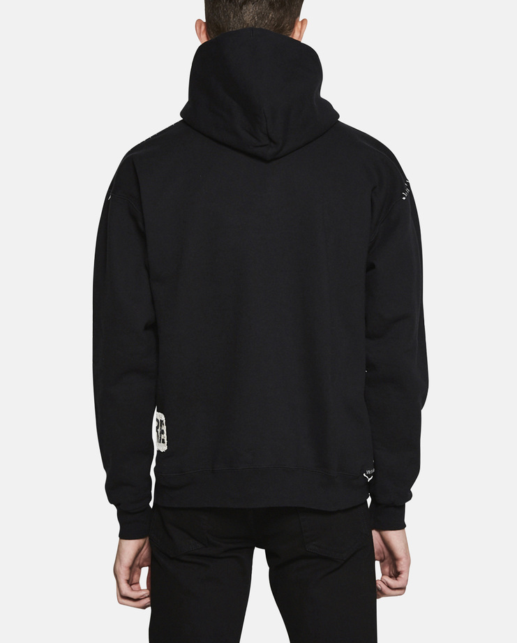 Heikki Salonen Patchwork Hoodie Heikki Salonen Designer Contemporary Hoodie Jersey Cotton Sweatshirt Tops Sweater Hooded Sweatshirt New Arrivals New Collection S/S 17 Spring Summer 2017 Collection Fashion Clothing